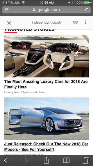 Illustration for article titled What's up with these weird ads I get everywhere? (including Jalopnik)