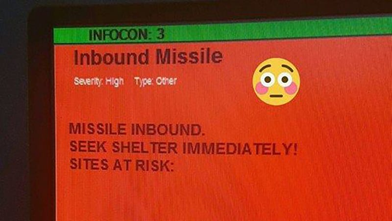 Accidental Inbound Missile Warning Scares the Hell Out of American Air Force Personnel