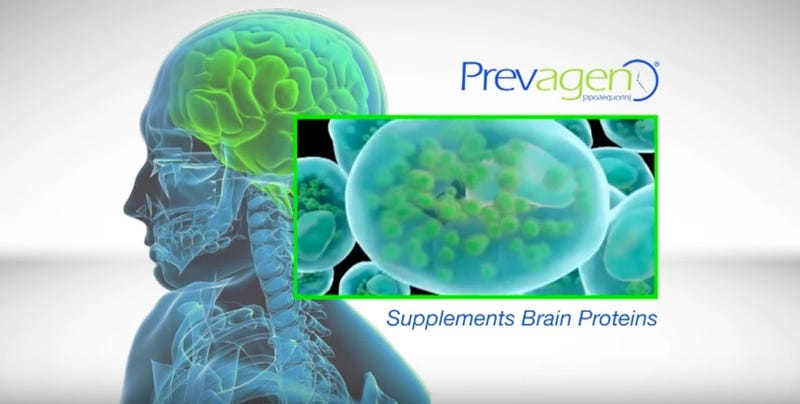 Screenshot for a TV ad for Prevagen (YouTube)
