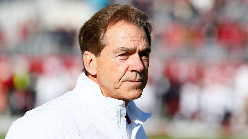 Illustration for article titled Nick Saban Returns From 2-Year Recruiting Expedition With 94 Blue-Chip Players