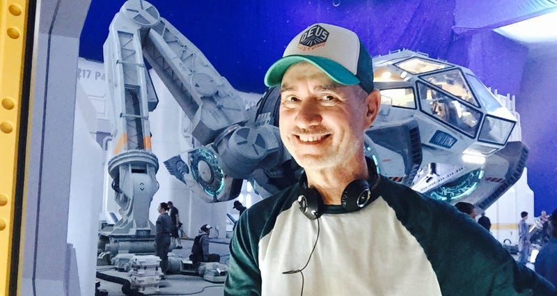 Director Roland Emmericha on the set of Independence Day: Resurgence. Image: Fox