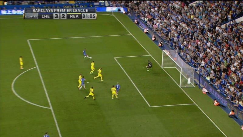 Illustration for article titled Chelsea Beats Reading Thanks To Ludicrous Blown Offside Call