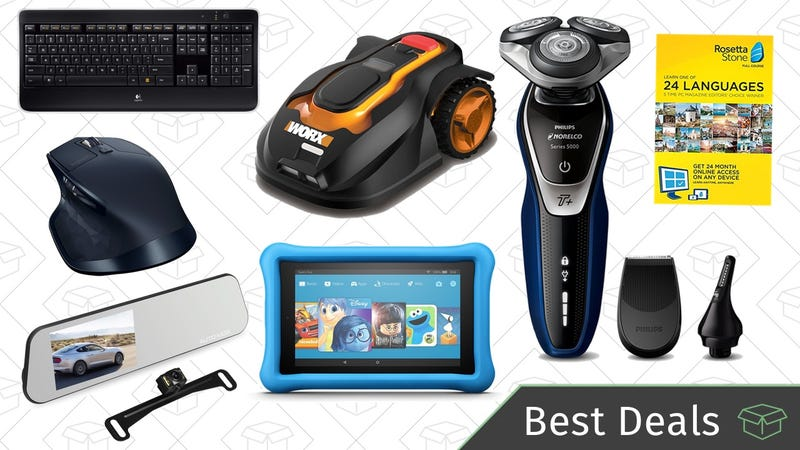 Illustration for article titled Tuesday's Best Deals: Logitech Gold Box, Philips Norelco Shaver, Rosetta Stone, and More