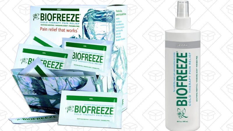 Illustration for article titled Relieve Aches and Pains With Today's Biofreeze Gold Box