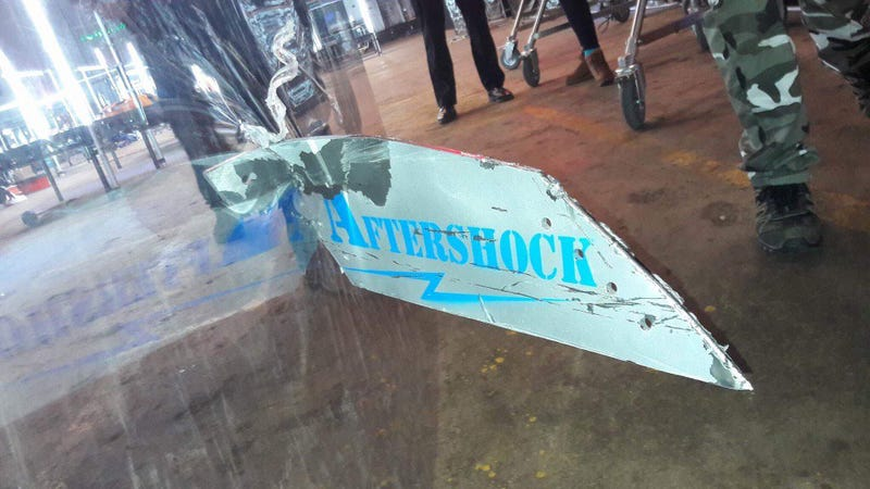 This is what happened to the safety glass when Aftershock went up against Carbide
