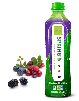 """Illustration for article titled Drink Review - Alo """"Spring"""" - Aloe & Mixed Berry & Botulism"""