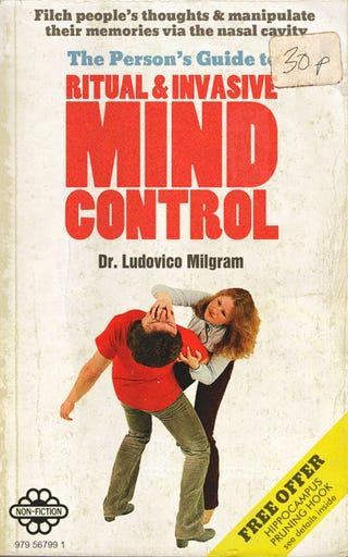 Illustration for article titled You'll Be Glad This Mind Control Handbook Doesn't Exist... Or Does It?