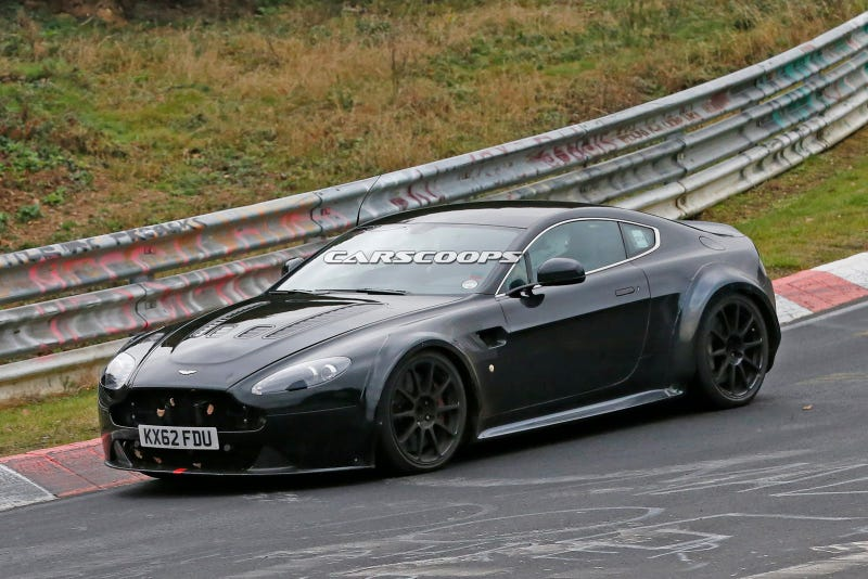 Apparently A Modified Aston Martin Vantage Has Been Testing At The Ring And It Could Either Be An Amg Powered Model Or Simply A Final Revised Version Of