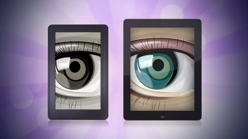 Illustration for article titled Is E-Ink Really Better for My Eyes than My iPad?