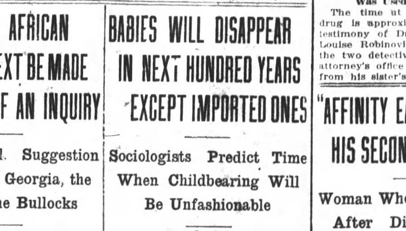 Illustration for article titled Professor from 1910: White Babies Will Be Extinct by 2015