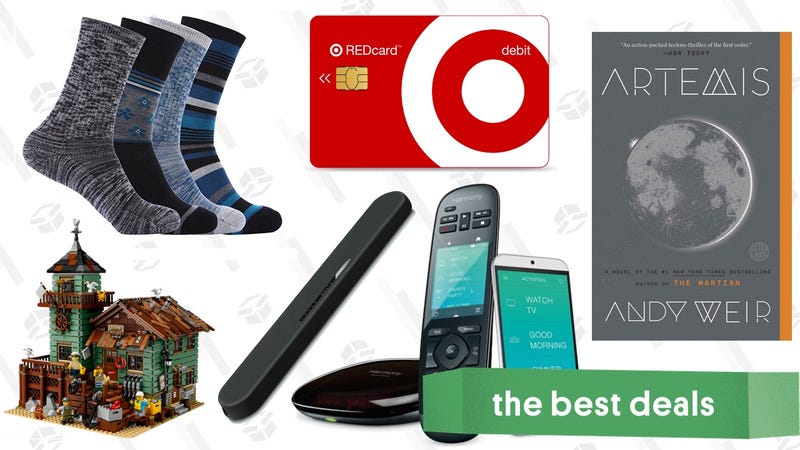 Illustration for article titled Sunday's Best Deals: Fancy Socks, Reader-Favorite Sound Bar, Target REDCard, and More
