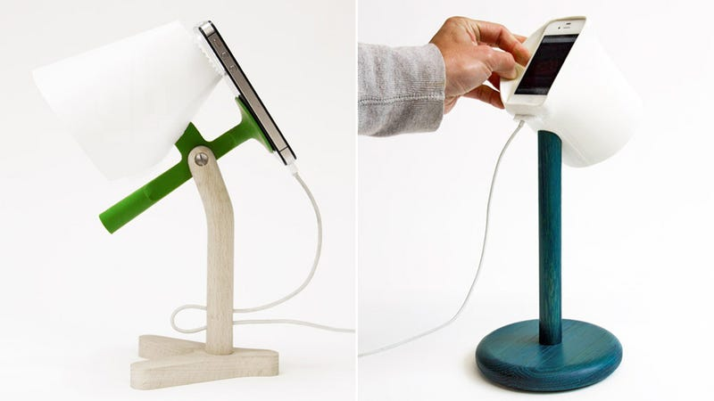 Illustration for article titled These Clever Docks Turn Your iPhone's Flash Into a Bedside Lamp