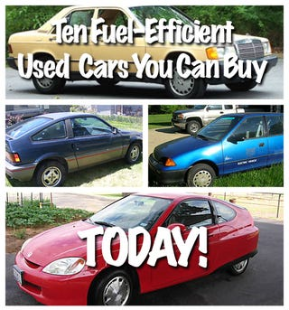 Illustration for article titled Ten Fuel-Efficient Used Cars You Can Buy Today!