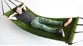 Illustration for article titled Could There Be a Better Way To Enjoy Summer Than On a Grass Hammock?