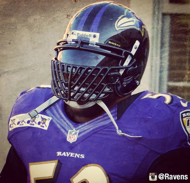 Intimidating football face mask
