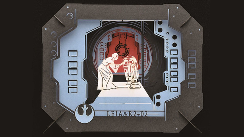 Illustration for article titled These Gorgeous Star WarsScenes Are 3D Paper Sculptures
