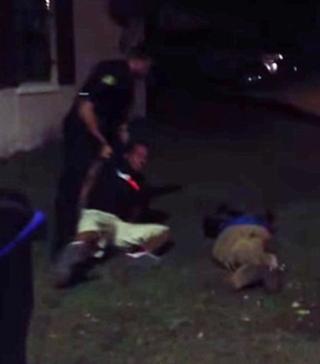 Video footage shows Officer William Escobar punching and kicking Refus HollowayWESH Screenshot