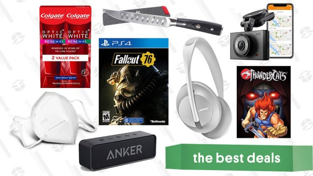 Wednesday s Best Deals: Bose 700 ANC Headphones, Fallout 76: Wastelanders, Anker Roav Dash Cam, Kyoku Steak Knife Set, KN95 Masks, and More