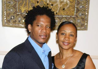 Comedian and event emcee D.L. Hughley and his wife, LaDonna, at Night of the Butterfly event at a private residence March 20, 2003, in Los AngelesKevin Winter/Getty Images