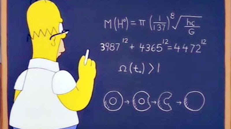 Illustration for article titled Homer Simpson apparently predicted the mass of the Higgs boson particle