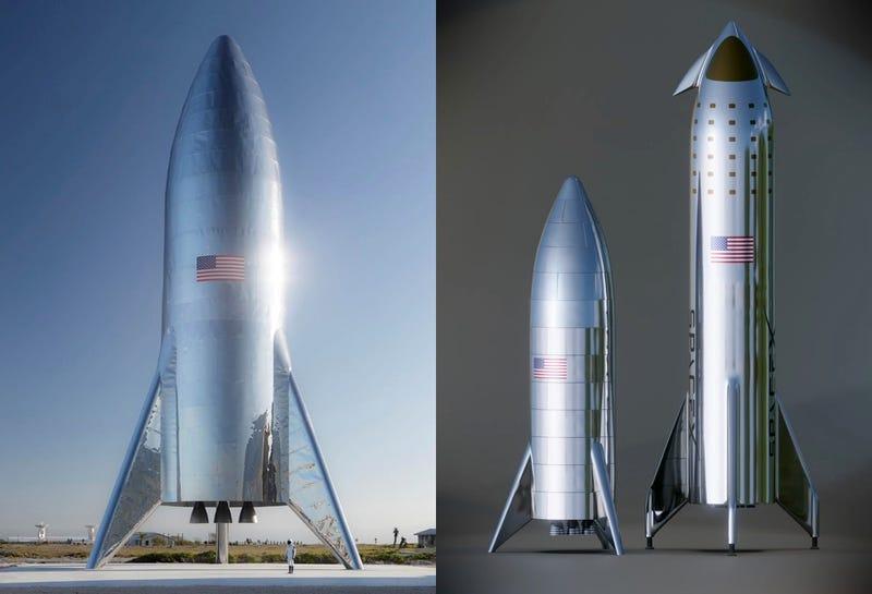 Una foto real de un prototipo de Starship y una comparativa no oficial con la nave finalizada