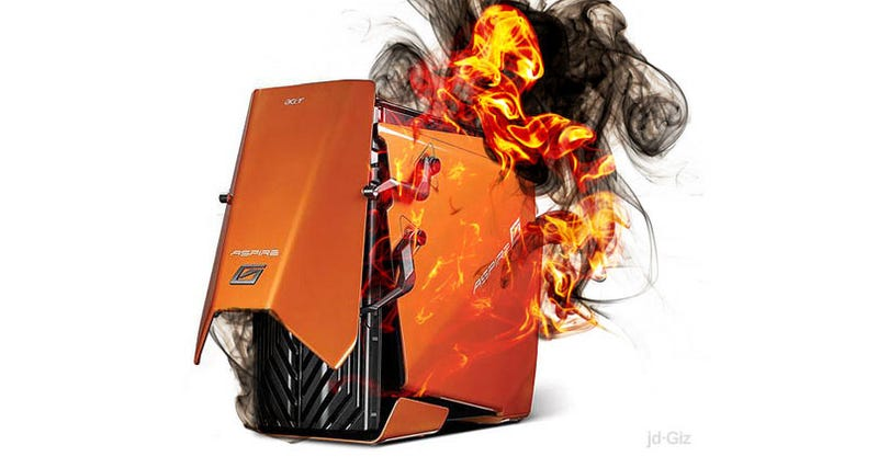 Illustration for article titled Some Acer Gaming PCs Recalled For Overheating, Melting To Death