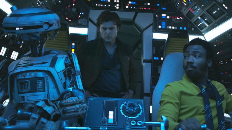 L3, Han and Lando take the Falcon out for a spin.