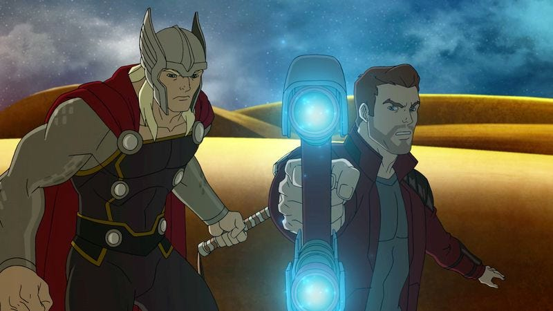 """Illustration for article titled The """"Asgard War"""" is the best thing to happen to Guardians Of The Galaxy"""