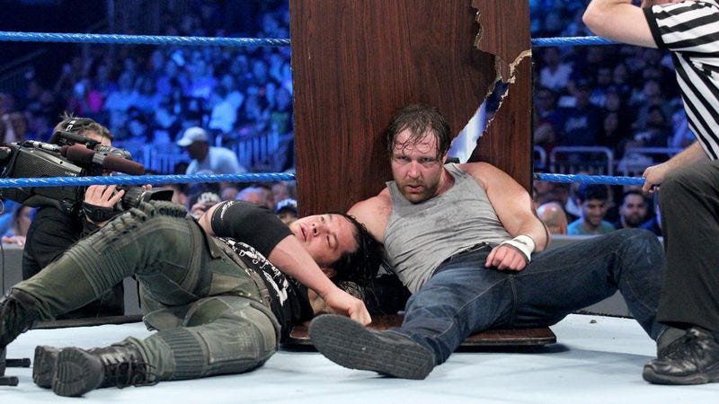 Baron Corbin (left), Dean Ambrose