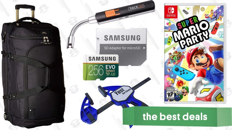 Illustration for article titled Sunday's Best Deals: MicroSD Cards, Super Mario Party, Yost Vises, and More