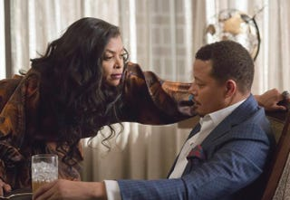 Cookie (Taraji P. Henson) and Lucious (Terrence Howard) are going to be running Empire together. Wonder how that's going to turn out?Chuck Hodes/Fox