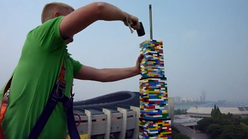 Illustration for article titled How Tall Can a Lego Tower Be Before It Crushes Itself?