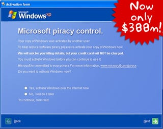 Illustration for article titled Microsoft Ordered To Pay $388M For Pirating Windows Activation Technology
