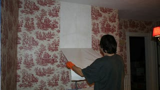 Illustration for article titled Easily Remove Wallpaper with Vinegar and Hot Water