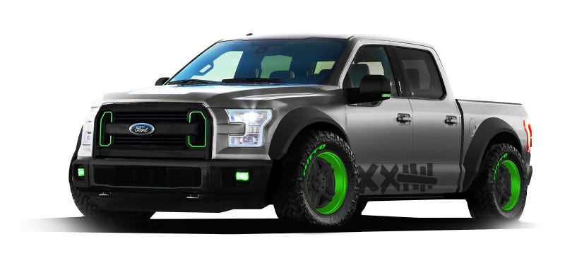 Illustration for article titled Ford Turned A 2015 F-150 Into A Jump/Drift Truck For SEMA