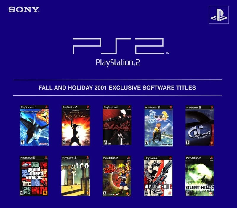 Promotions PS2 automne 2001