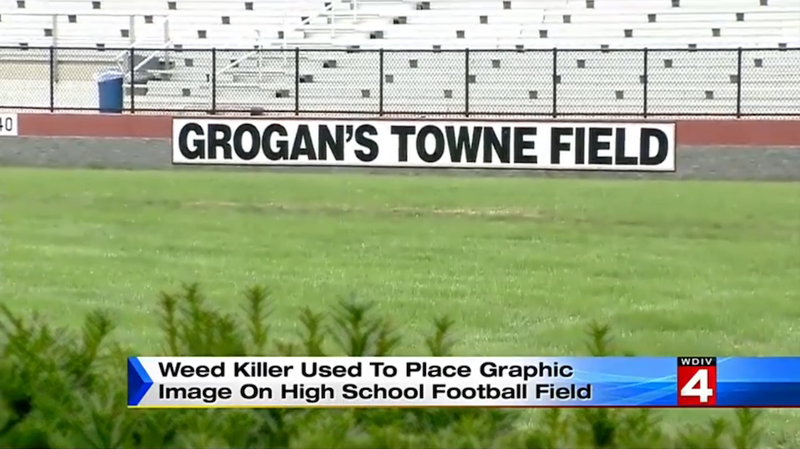 Illustration for article titled Mom and Teens Vandalize High School Football Field with Giant Dick