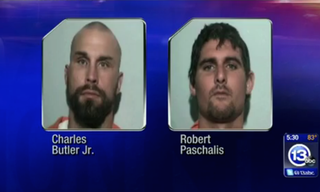 Charles Edward Butler and Robert Allen Paschalis face charges of felonious assault in what authorities say was a biased attack on Adrian Williams, who is black.ABC 13 VIDEO SCREENSHOT