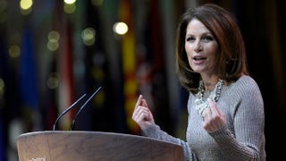 Illustration for article titled Irrelevant Michele Bachmann Accuses LGBT Community of Bullying