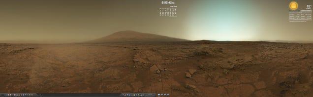 The Martian Dual-Monitor Desktop