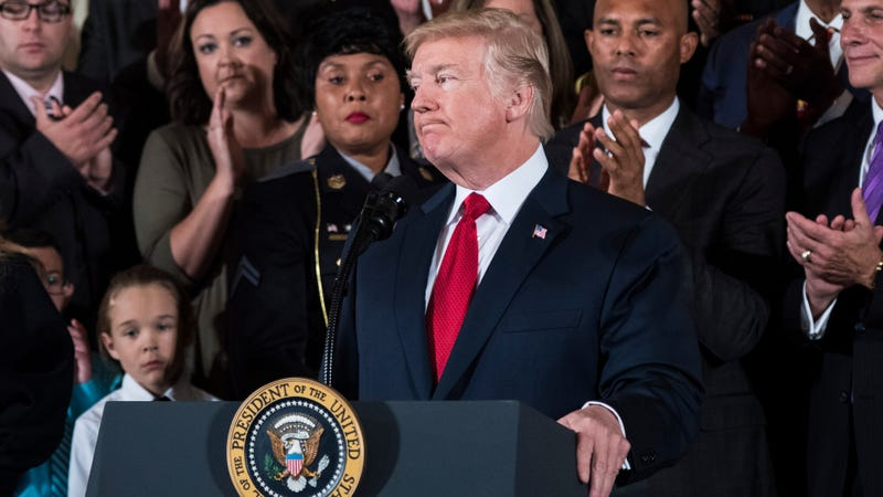 President Donald Trump in the White House on Oct. 26, 2017 (Jabin Botsford/the Washington Post/Getty Images)
