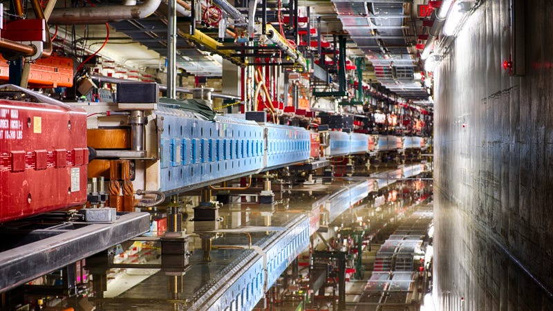 Illustration for article titled Fermilab's New Neutrino Cannon Shoots Subterranean Subatomics
