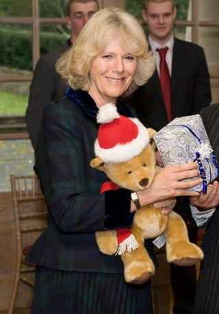 Illustration for article titled Camilla Parker Bowles Wishes You A Beary Merry Christmas