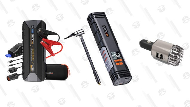 Have Peace of Mind and Fresh Air With Up to 51% Off Car Jump Starters, Tire Inflators, and Air Purifiers