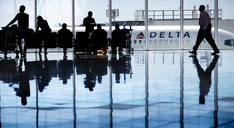 A Delta plane at the Hartsfield-Jackson Atlanta International Airport in October of 2016. Photo credit: David Goldman/AP Images