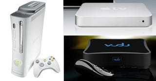 Illustration for article titled Apple TV vs. Vudu vs. Xbox 360: Video Download Battlemodo