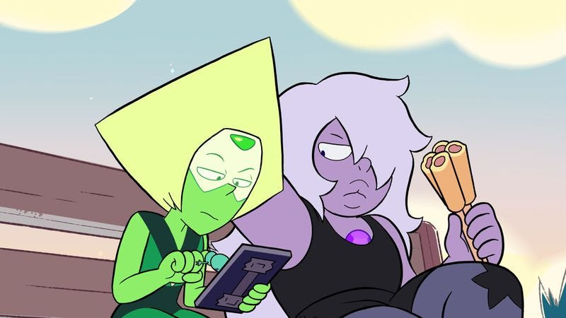 "Illustration for article titled Peridot tries having ""fun"" in an instant classic Steven Universe"