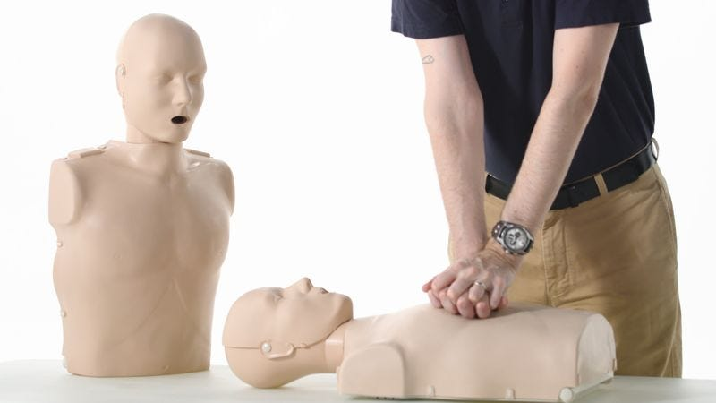 Illustration for article titled Incredible: This Innovative CPR Dummy Comes With A Second Dummy That Audibly Mourns Its Dead Son