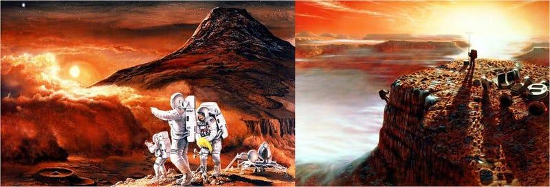 Illustration for article titled Sueños marcianos, o cómo imaginó la NASA los viajes tripulados a Marte