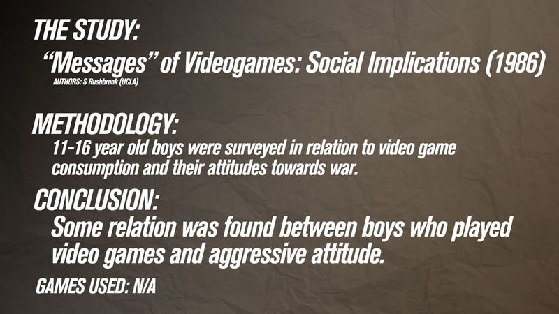 violent video game research paper